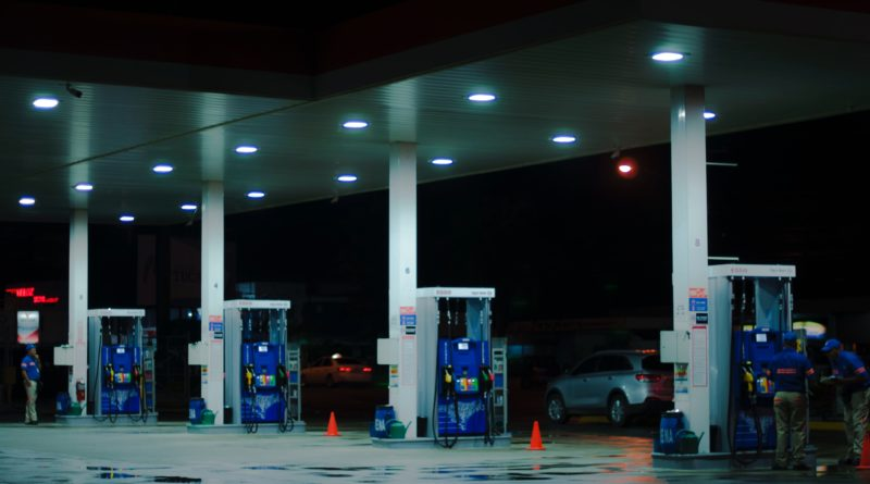 Petrol Station at night