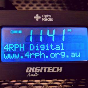 Digital Radio tuned into Reading Radio.