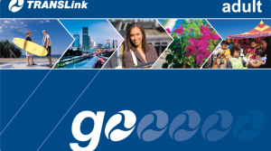 Closeup of a Translink Go Card