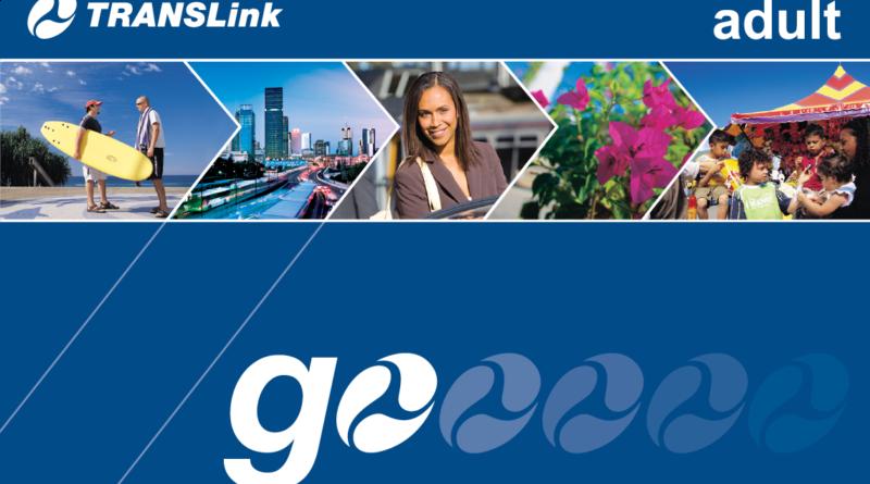 Closeup of a Translink Go Card