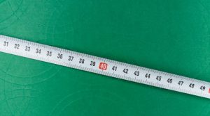 Close up on a tape measure.