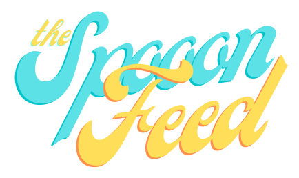 "Retro text that reads ""The Spoon Feed"""