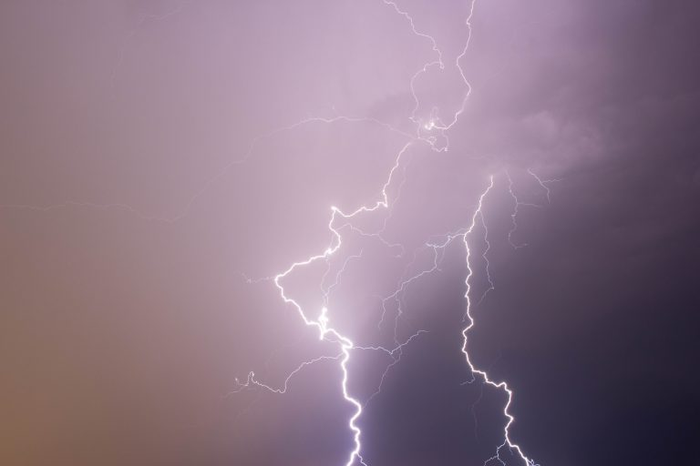 lightning coming from the sky