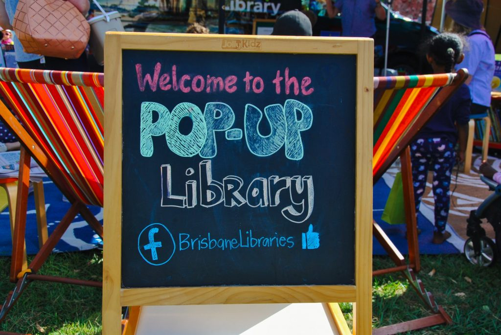 Pop-up Library in brisbane