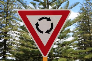 Road Sign for Roundabout