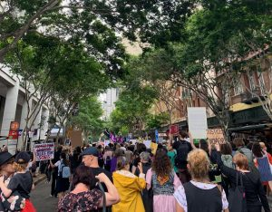 protest in Brisbane