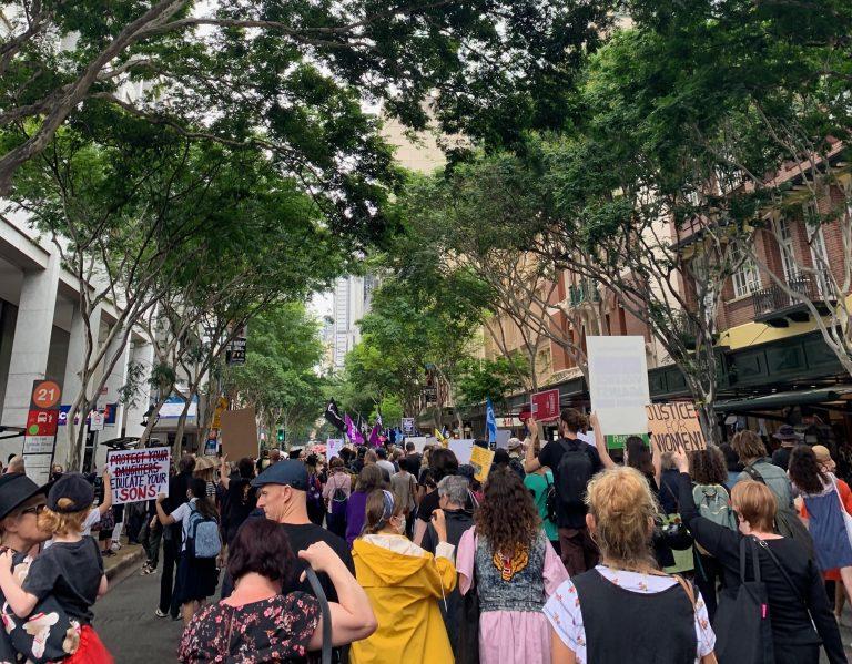 protest in Brisbane